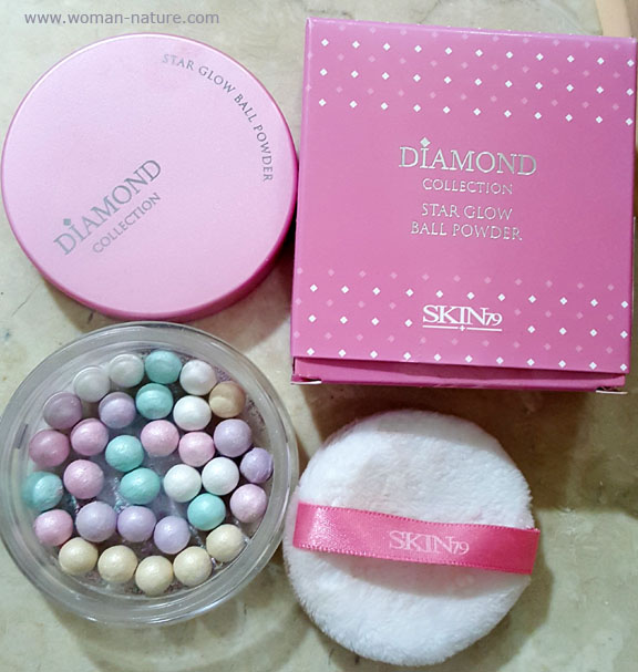 diamonds star glow powder ball skin79