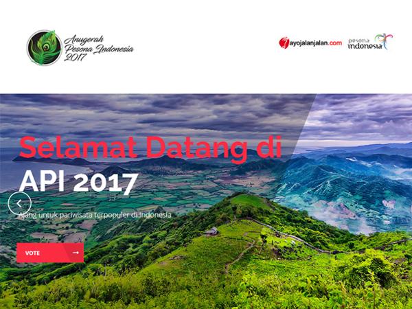 Vote Anugerah Pesona Indonesia 2017