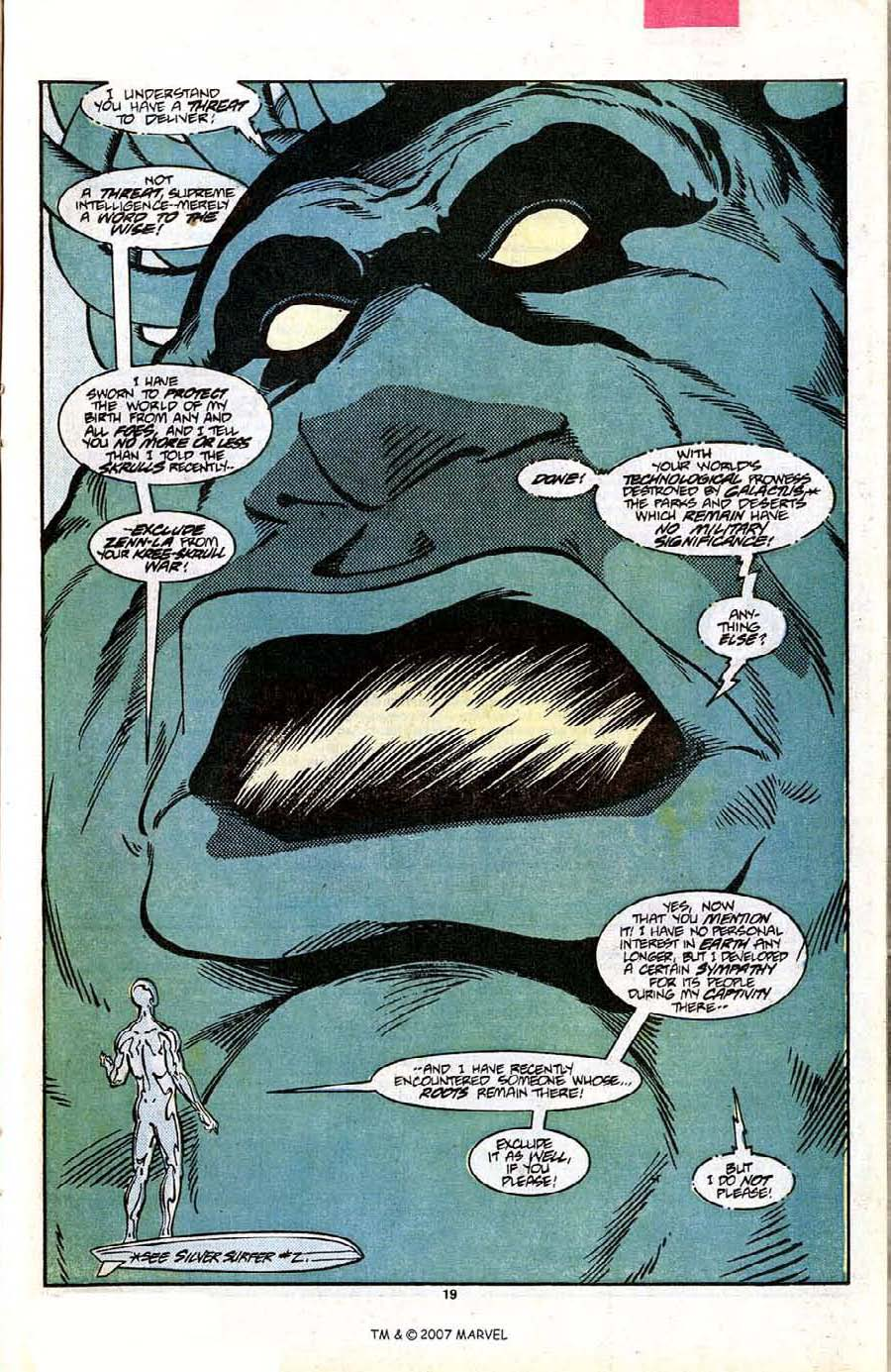 Read online Silver Surfer (1987) comic -  Issue #7 - 27