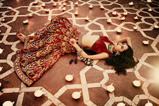 Red Designer Ghagra Choli (5).jpg
