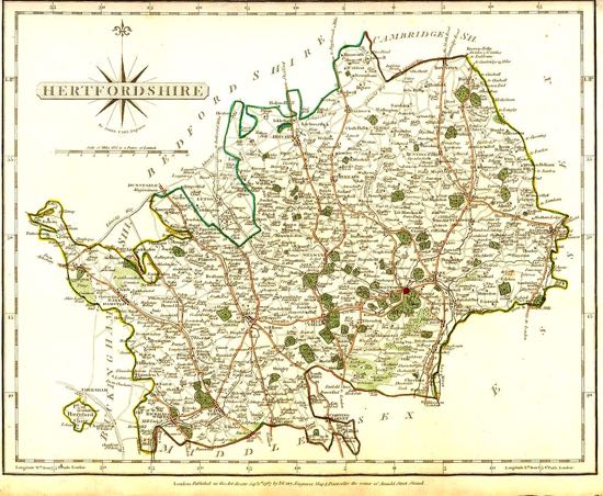 Image of Figure 12.1 John Cary, Map of Hertfordshire, in Cary's new and correct atlas: being a new set of county maps from actual surveys (London, 1787), not paginated