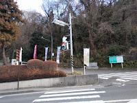 上郷森の家のバス停を降りた所