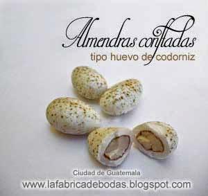 venta almendras para bodas para colocar como huevos en nidos recuerdos personalizados boda vintage campestre  santa barbara gatemala