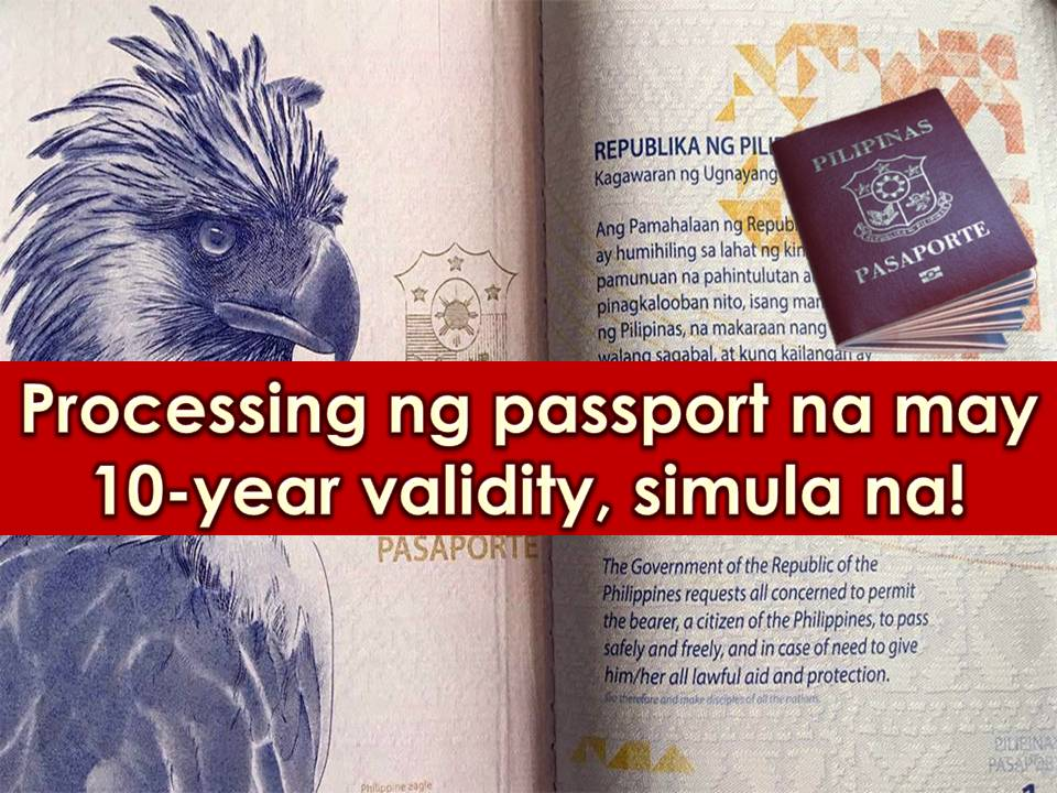 Passport is one of the most valid identification cards in the Philippines. Aside from its main purpose as one of the most important documents in traveling abroad, a passport is also an acceptable ID that can be used both in public and private transaction.    After President Rodrigo Duterte signed the Republic Act 10928 into law last August 2, the implementation of an act extending the validity of passport from five to 10 years comes into effect this year.