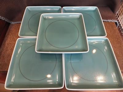 白山陶器の青磁角皿