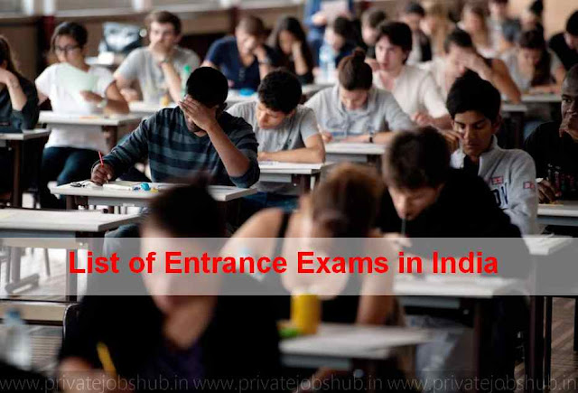 List of Entrance Exams in India
