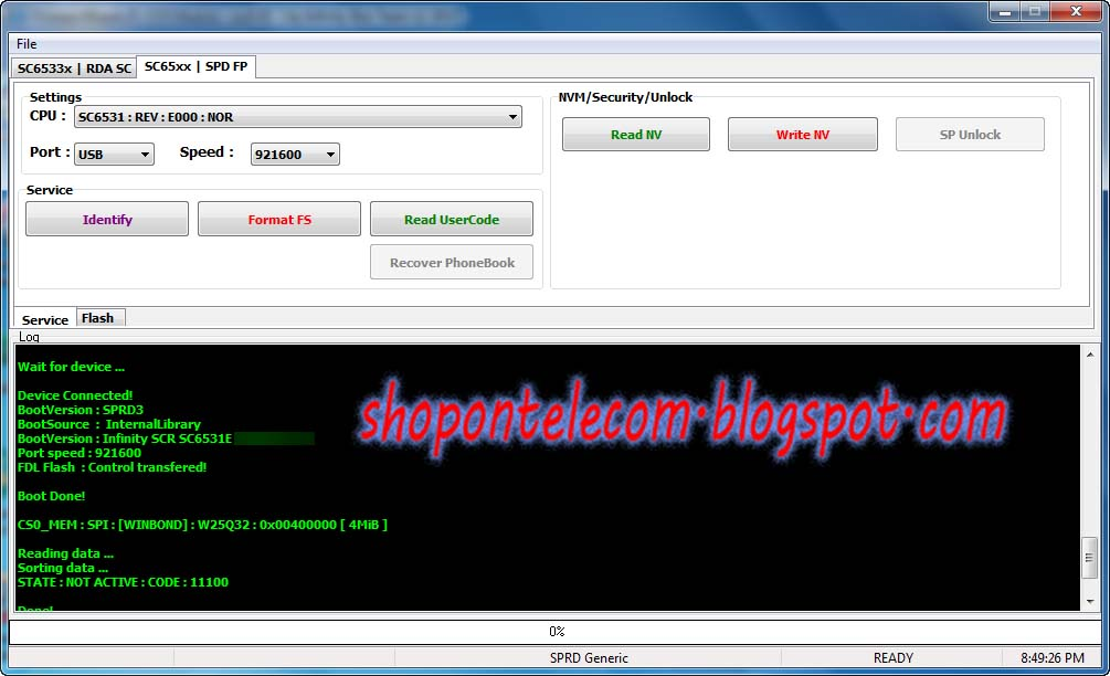Infinity-Box CM2 New SPD SC6531E Support Software New models