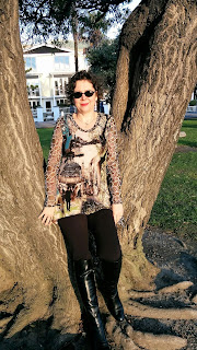 Creates Sew Slow: Akaroa Outfit of the Day Tree Top and Leggings