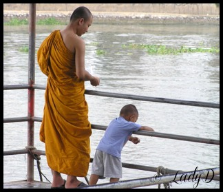 monk and little boy