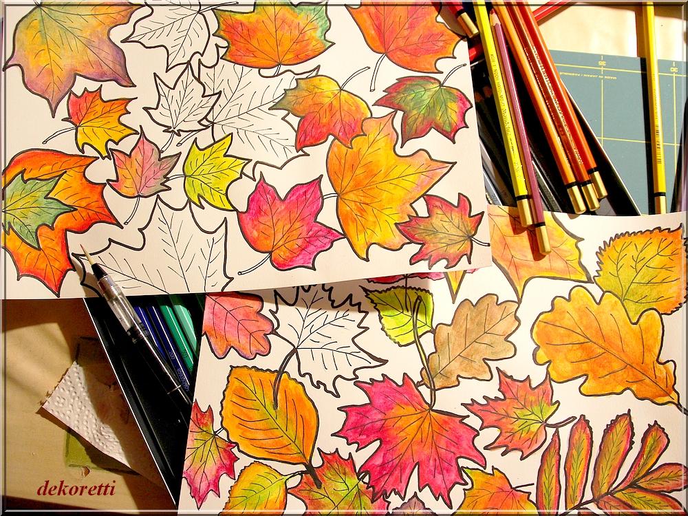 herbstblatter zum ausdrucken farbig  cartoonbild