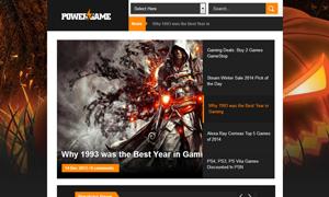 PowerGame Responsive Blogger Template