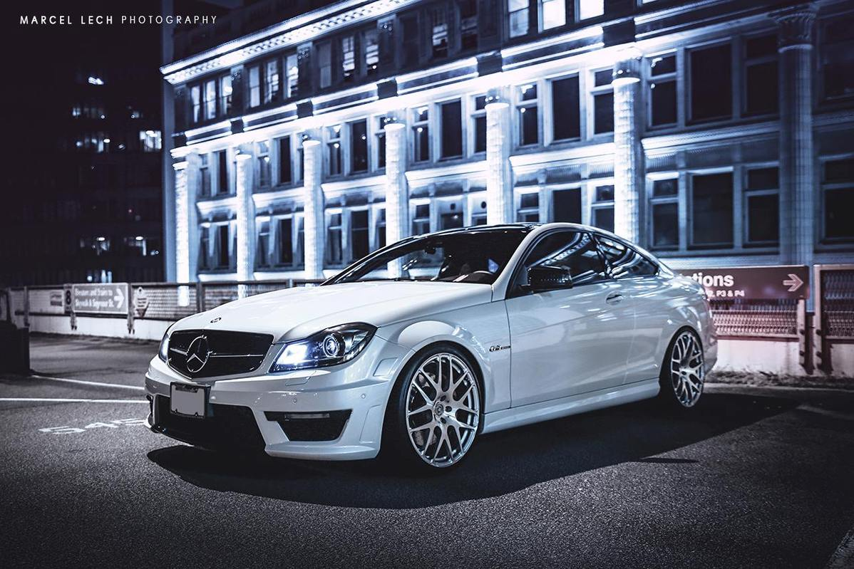 mercedes benz w204 c63 amg coupe on hre performance rims. Black Bedroom Furniture Sets. Home Design Ideas