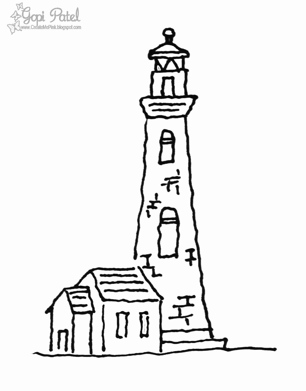 Create Me Pink Digital Stamps: Lighthouse Digi - Freebie!