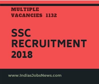 SSC Recruitment 2018 Apply Now