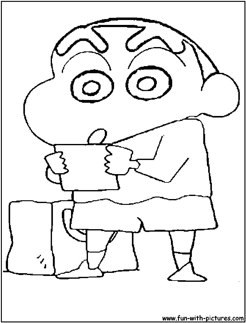 shin chan coloring pages print - amazing chan free coloring pages