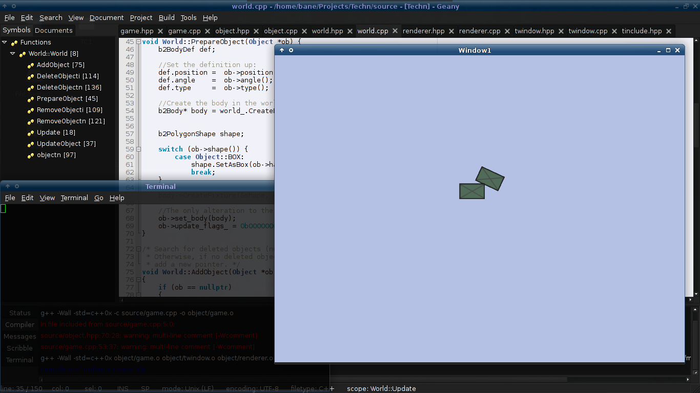 Playing with Box2D and SFML - Codecall