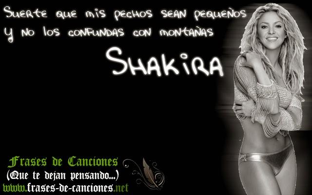 Frase de la canción : Shakira - Suerte