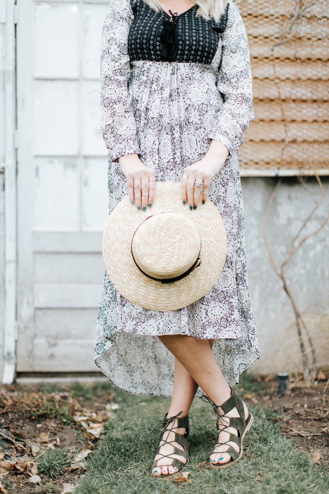 Sun Hat, Sole Society, Lace Up Sandals