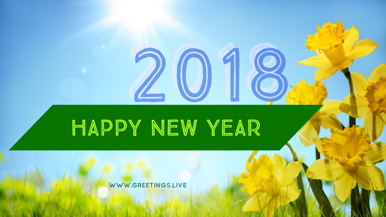 New Year Flower Greetings From Greetingsve Ongole City