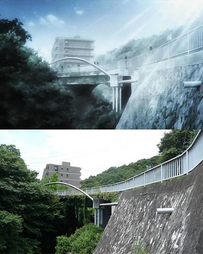 47 gambar Anime vs Dunia nyata yang bisa anda kunjungi bersama-sama