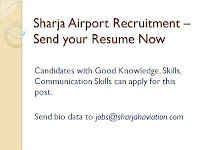 Sharjah Airport Recruitment