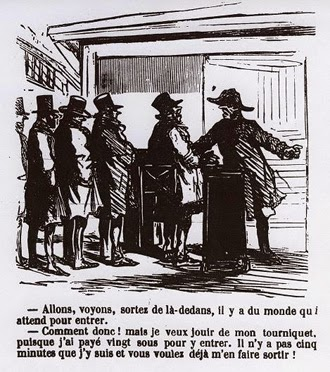 Франция, турникет,  Домье, графика, France, turnstile, Daumier, graphics