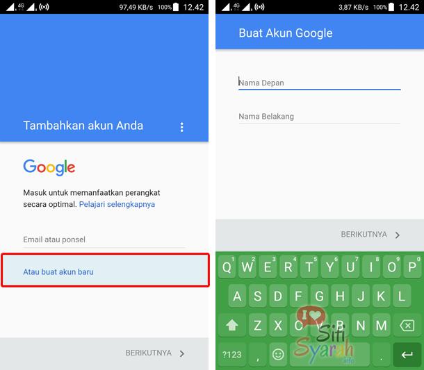 cara membuat akun email baru di android