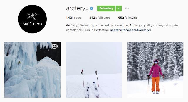 Follow @arcteryx on Instagram