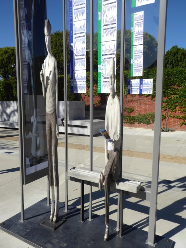 Yi Hwan-Kwon Bus Stop elongated sculpture figures