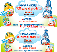 Logo Kinder e Ferrero: Maxi e Giga Riffa Pasqua 2018: vinci prodotti per 50€ o 100€