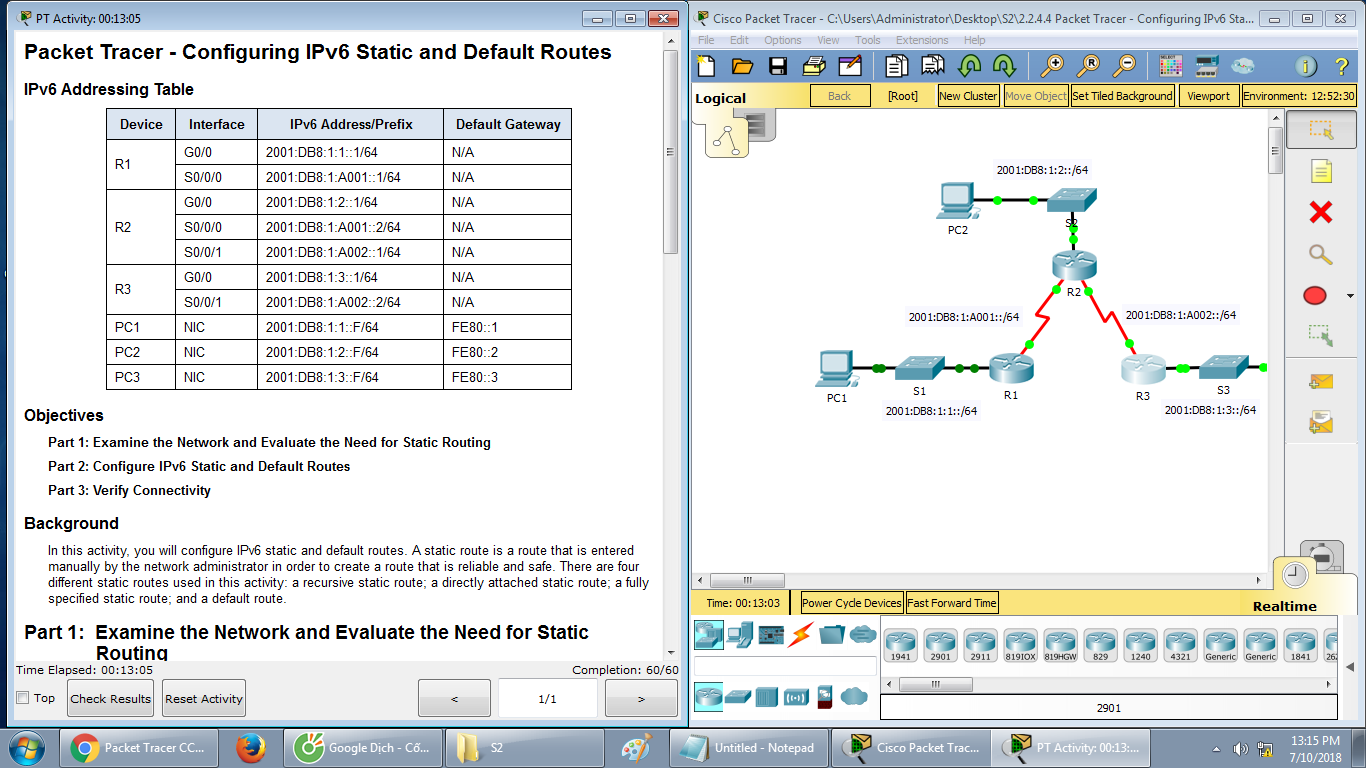 configuring static and default routes essay The network administrator configures static routes in a router by entering routes directly into the routing table of a router static routes require extensive planning and have high management overhead the more routers exist in a network, the more routes that need to be configured.