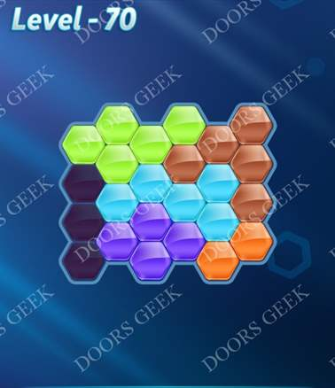 Block! Hexa Puzzle [6 Mania] Level 70 Solution, Cheats, Walkthrough for android, iphone, ipad, ipod