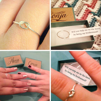 ask your bridesmaid ring