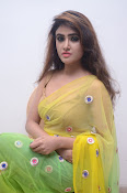 Sony Charista sizzling look in saree-thumbnail-15