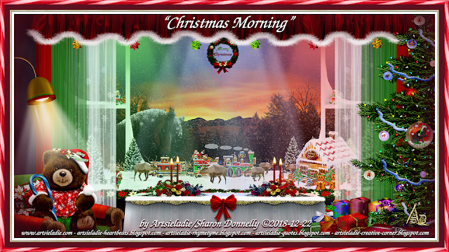 Christmas Morning art by/copyrighted to Artsieladie