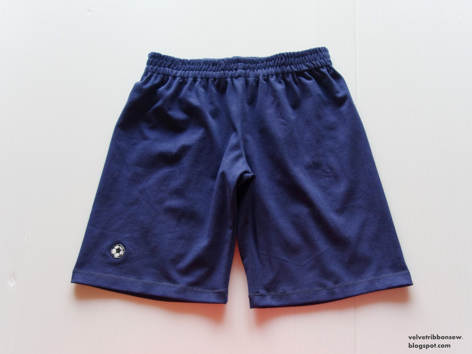 boy's shorts in deep blue