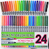 My Review : Dual Tip Brush Pens with Fineliner Tip 24 PACK