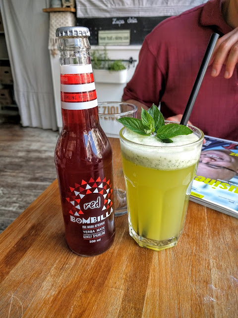 Homemade lemonade and gourmet soda at Warsaw's Niezłe Ziółko Cafe