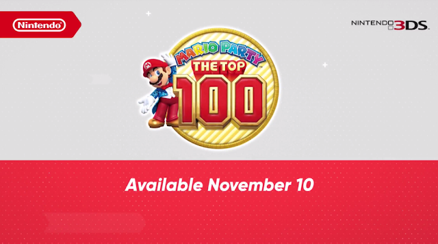 Mario Party The Top 100 logo Nintendo 3DS
