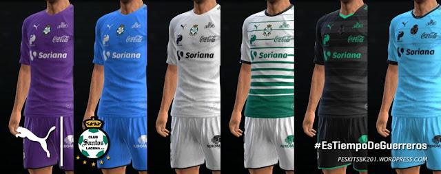 Santos Laguna 2017-2018 Kit PES 2013