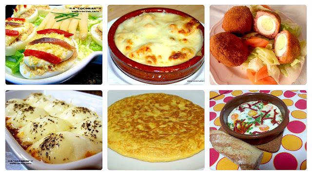 Huevos 6 recetas variadas