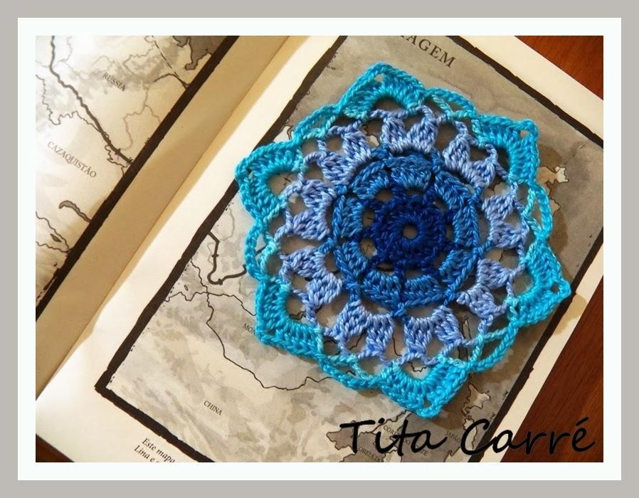 Motivo em crochet Azuis...