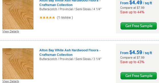 Ash Hardwood Flooring Per Square Foot Cost Material