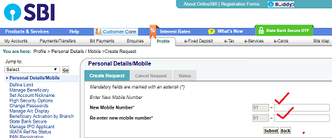 Learn These How To Change Registered Mobile Number In Sbi Without