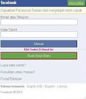 Buat Akun Baru Facebook di Opera Mini