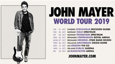 JOHN MAYER announces European leg of 2019 World Tour