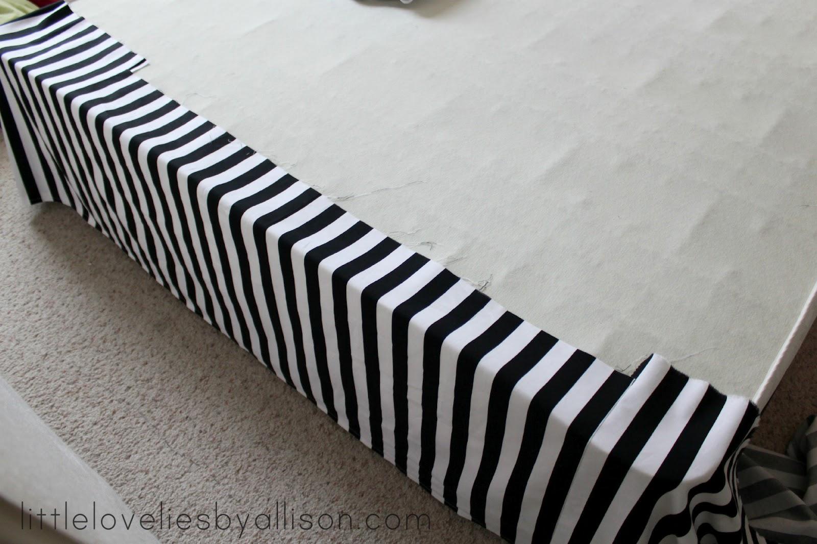 Little Lovelies Tutorial Easy Diy Bed Skirt