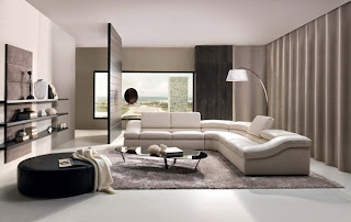 Sala con muebles beige