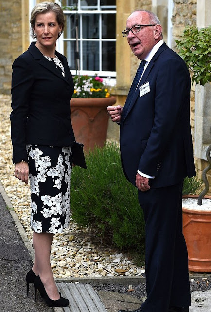 The Countess of Wessex visits Cogges Manor Farm open a school for autistic children