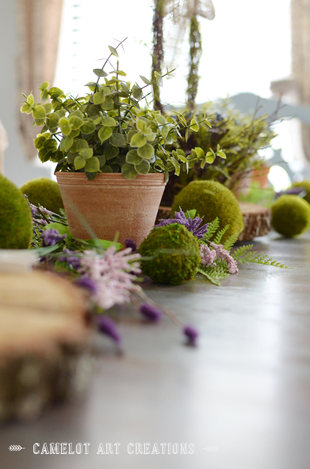 moss  table setting